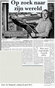 110429-interview met phlippe elan in telegraaf